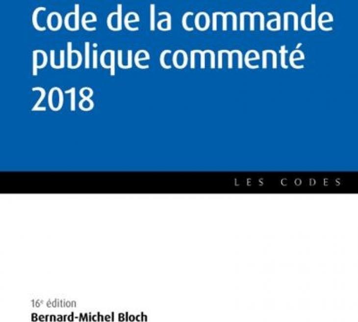Code de la commande publique commenté 2018