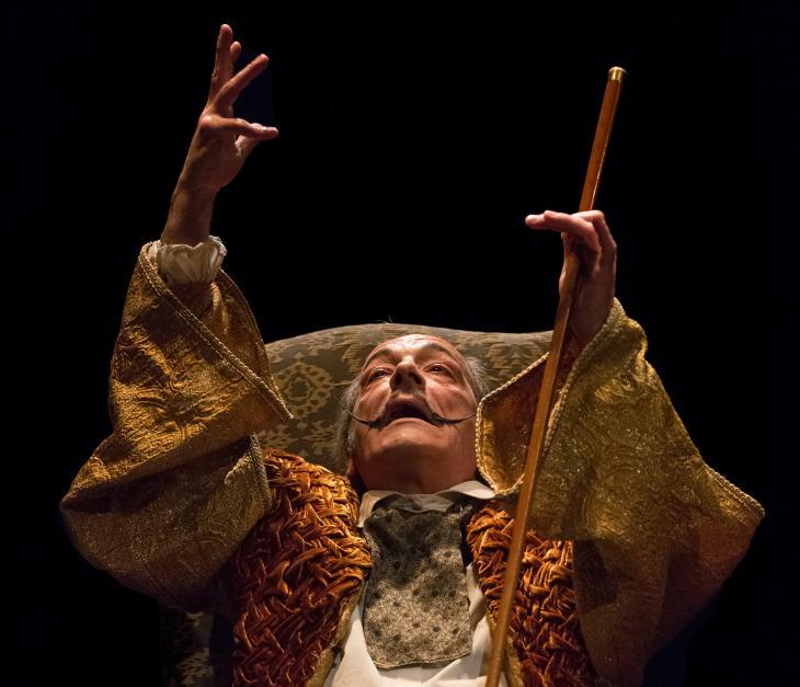Les conférences imaginaires de Dali par Gauzeran, au théâtre des Mathurins. Photo Dominique Chauvin.