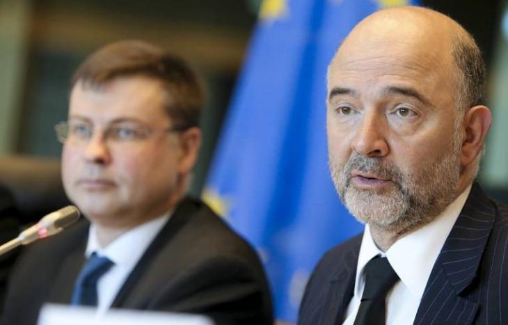 Valdis Dombrovskis et Pierre Moscovici.
