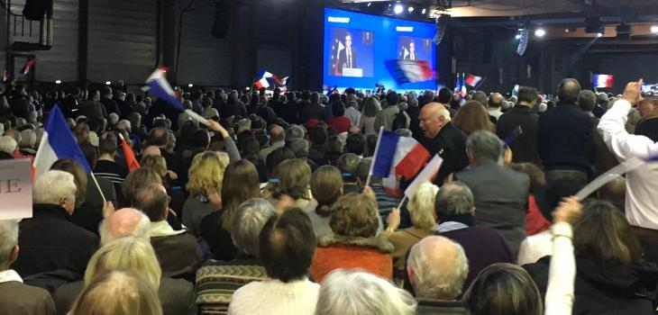 Meeting François Fillon, Porte de la Villette, 29 janv. 2017. Photo Jon Helland/LexTimes.