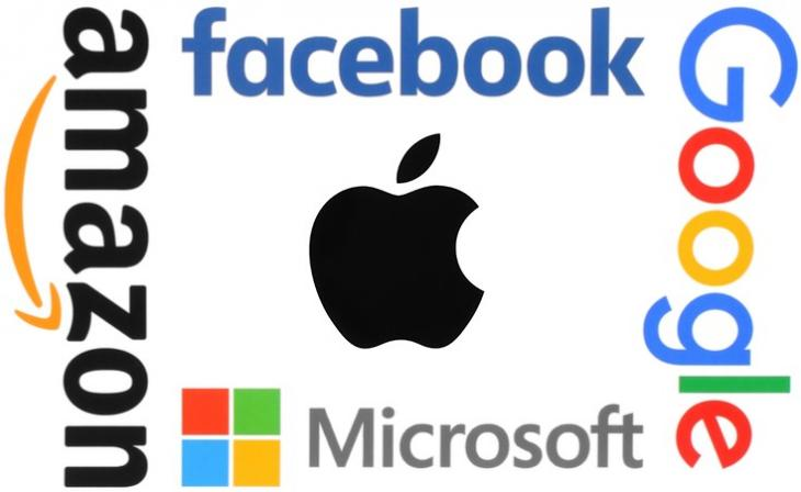 Google, Apple, Facebook, Amazon et Microsoft (GAFAM)