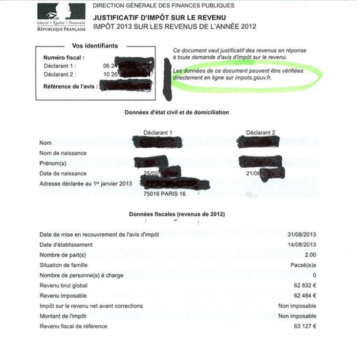 donn es personnelles le justificatif d imp t sur le revenu non conforme l avis de la cnil. Black Bedroom Furniture Sets. Home Design Ideas