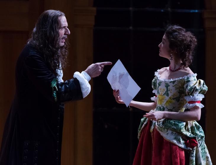Le Misanthrope ou l'Atrabilaire amoureux, avec Lambert Wilson, au théâtre le Comédia. Photo Svend Andersen.