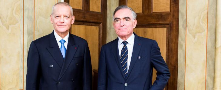 Bertrand Louvel et Jean-Claude Marin. Photo CSM.