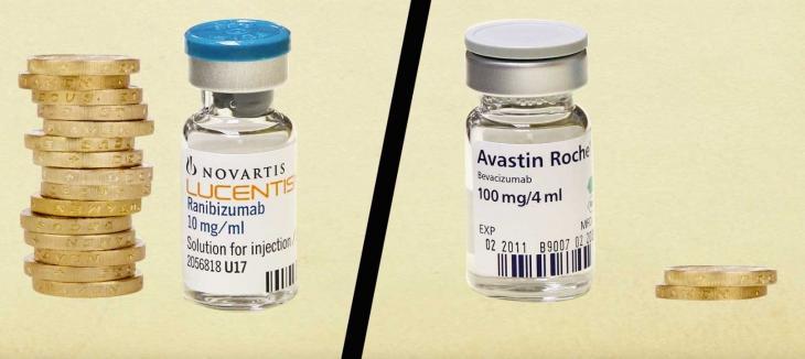 Le Lucentis, 20 fois plus cher que l'Avastin, est utilisé pour les mêmes maladies oculaires.