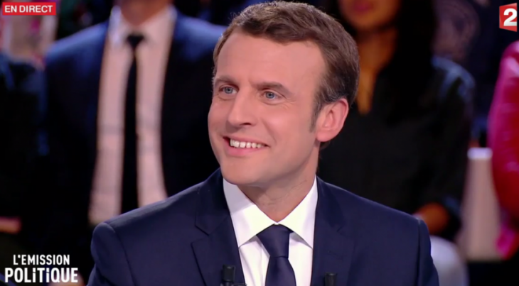 Emmanuel Macron, l'Emission politique, 6 avril 2017. Capture d'écran.