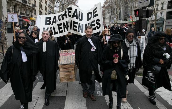 Manifestation contre le projet de loi Justice, Paris, 15 janv. 2019. Photo Brian du Halgouet/CNB.
