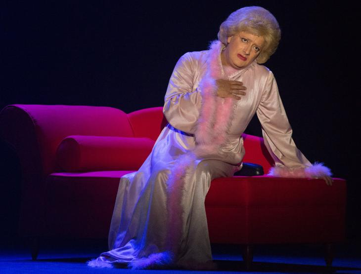Marie-Thérèse Porchet, au théâtre de la Gaîté-Montparnasse. Photo Pascal Bernheim.