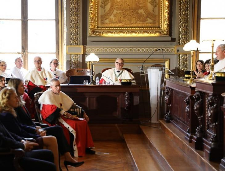 Installation de François Molins, Cour de cassation, 16 nov. 2018. Photo DR.