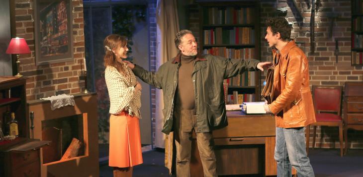 Piège mortel, au théâtre la Bruyère. Photo Lot. Avec, de g. à d., Virginie Lemoine, Nicolas Briançon et Cyril Garnier.