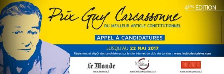 Quatrième édition du Prix Guy Carcassonne.