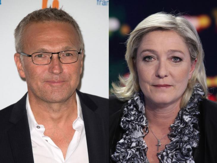 Laurent Ruquier et Marine Le Pen. Photomontage.