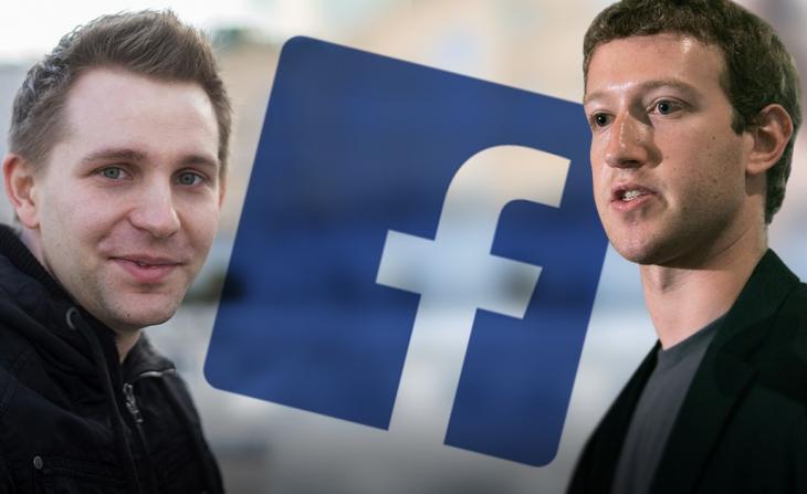 Maximilian Schrems et Mark Zuckerberg.