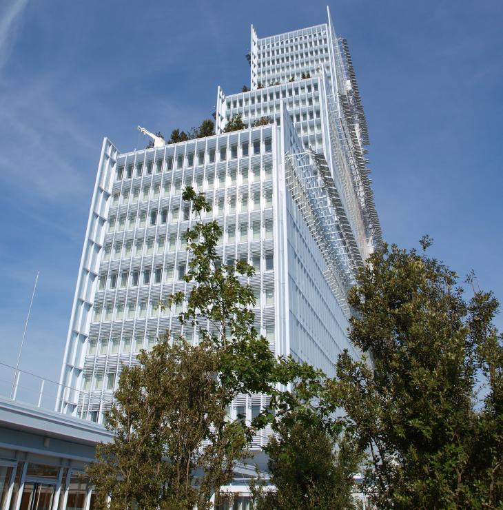 Nouveau palais de justice de Paris, dans le quartier des Batignolles.