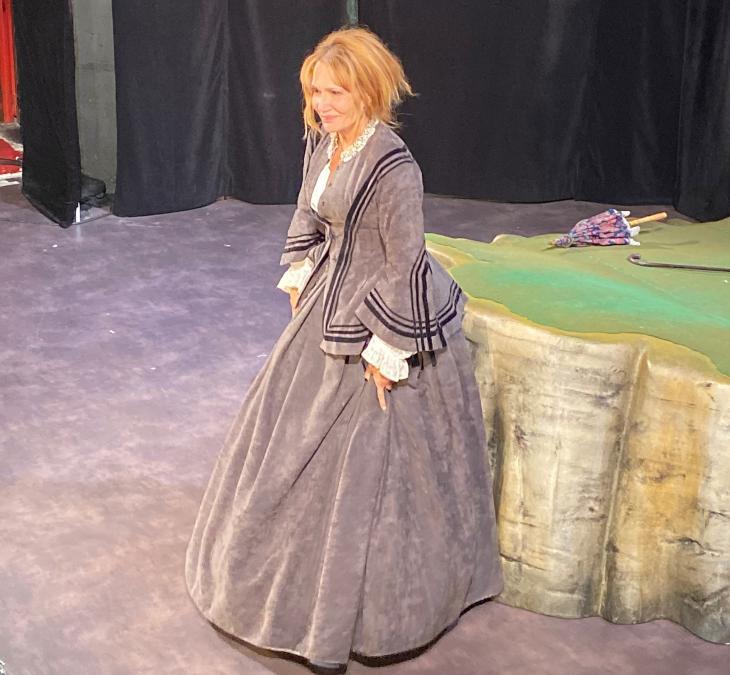 Clémentine Célarié, dans Une vie, au théâtre des Mathurins. Photo Jon Helland.