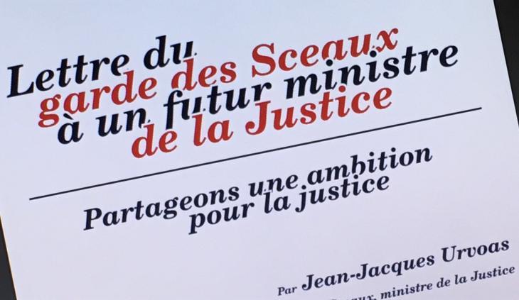 Lettre du garde des sceaux à un futur ministre de la justice
